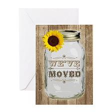 Rustic Change Of Address Mason Jar Sunflower