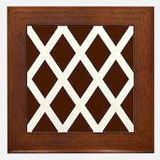 'Diamonds' Framed Tile