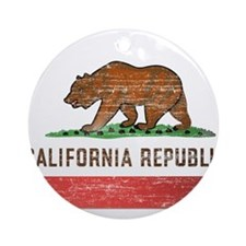 Vintage California Flag Ornament (Round)