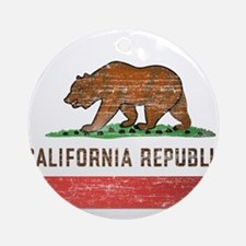 Vintage California Flag Ornament (Round)