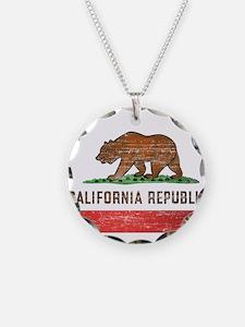 Vintage California Flag Necklace
