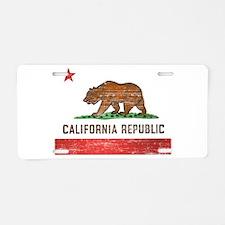 Vintage California Flag Aluminum License Plate