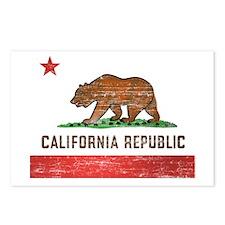 Vintage California Flag Postcards (Package of 8)