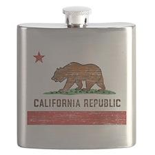 Vintage California Flag Flask