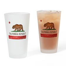 Vintage California Flag Drinking Glass