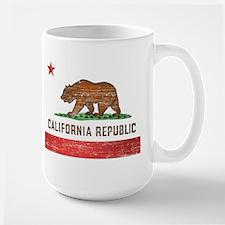 Vintage California Flag Large Mug