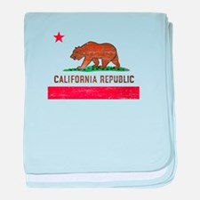 Vintage California Flag baby blanket