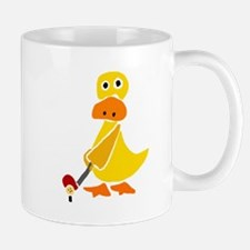 Primitive Duck Playing Golf Mug