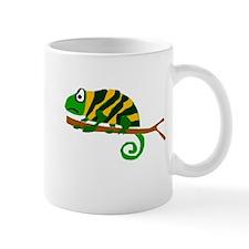 Funky Yellow and Green Chameleon Mug