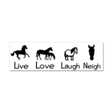 Unique Quarter horse racing Car Magnet 10 x 3