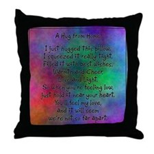 Hug from Home (watercolor dark) Throw Pillow
