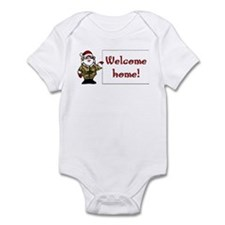 "Camo Santa ""Welcome Home"" Infant Bodysuit"