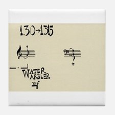 "John Cage ""Water Music"" (No. 3) Tile Coaster"