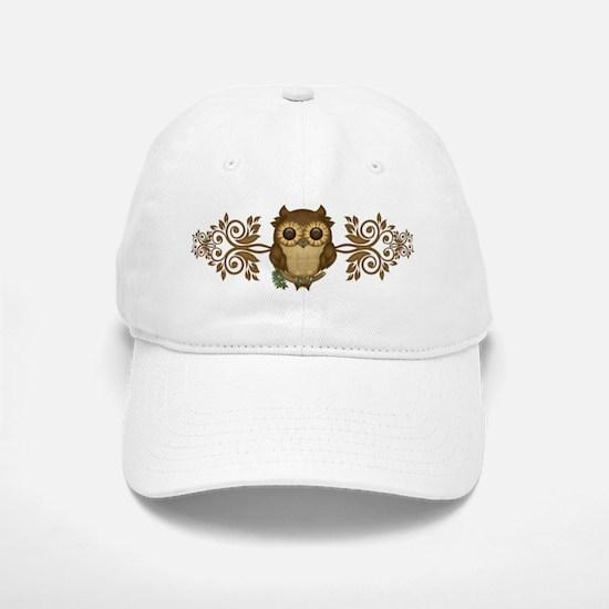 Cute Brown Owl Baseball Baseball Cap