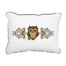 Cute Brown Owl Rectangular Canvas Pillow
