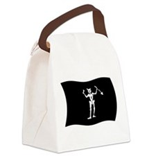 Blackbeard Pirate Flag Canvas Lunch Bag