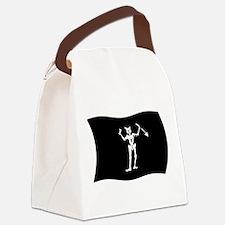 Blackbeard Pirate Flag Canvas Lunch Bag