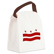 Washington DC Flag Canvas Lunch Bag