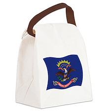 Cute North dakota flag Canvas Lunch Bag