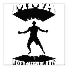 """MMA Mixed martial arts Square Car Magnet 3"""" x 3"""""""