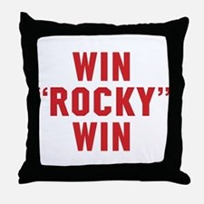 Win Rocky Win Throw Pillow