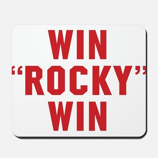 Win Rocky Win Mousepad