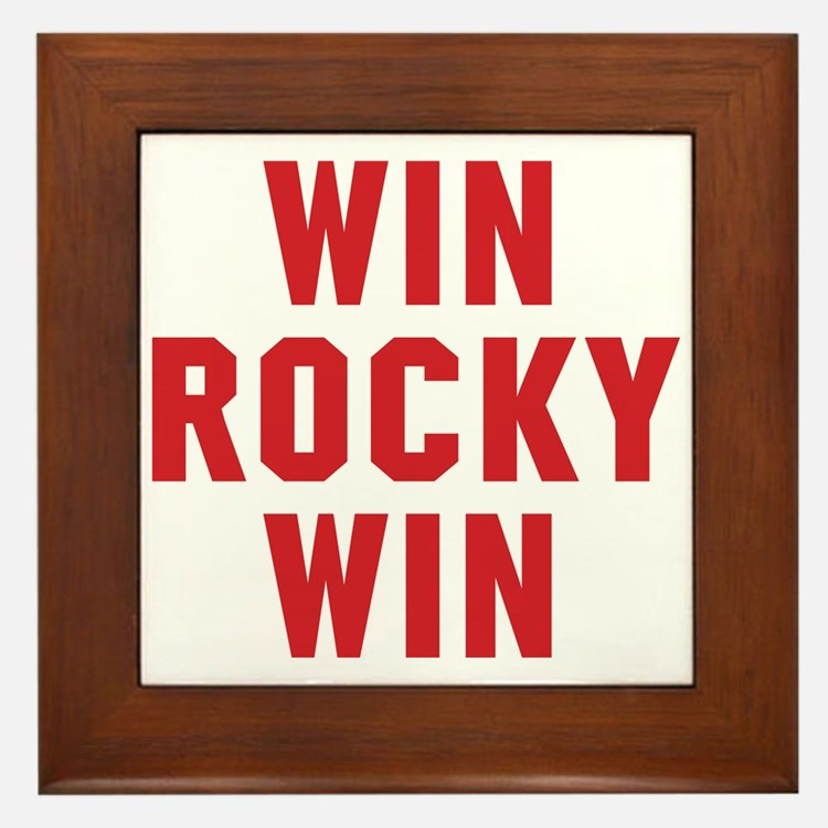 Win Rocky Win Framed Tile