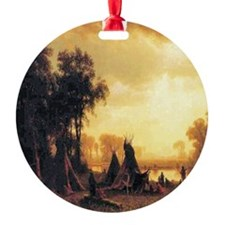 Yosemite Indian Encampment Round Ornament