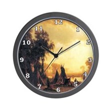 Yosemite Indian Encampment Wall Clock