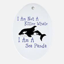 Killer Whale Ornament (Oval)