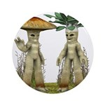 Lovable Vegetables - Waving Ornament (Round)