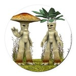 Lovable Vegetables - Waving Round Car Magnet