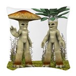 Lovable Vegetables - Waving Woven Throw Pillow