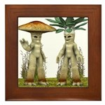 Lovable Vegetables - Waving Framed Tile
