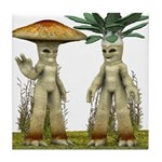 Lovable Vegetables - Waving Tile Coaster