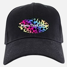 Custom Rainbow Leopard Baseball Hat