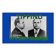 Al Capone Mugshot Tip Jar Decal