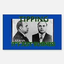 Al Capone Mugshot Tip Jar Decal