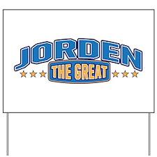 The Great Jorden Yard Sign