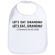 LETS EAT GRANDMA COMMAS SAVE LIVES Bib