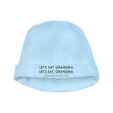LETS EAT GRANDMA COMMAS SAVE LIVES baby hat