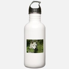 """Wolf In The Green"" Water Bottle"