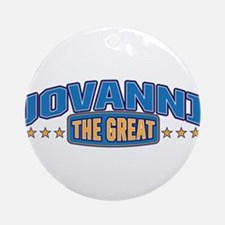 The Great Jovanni Ornament (Round)