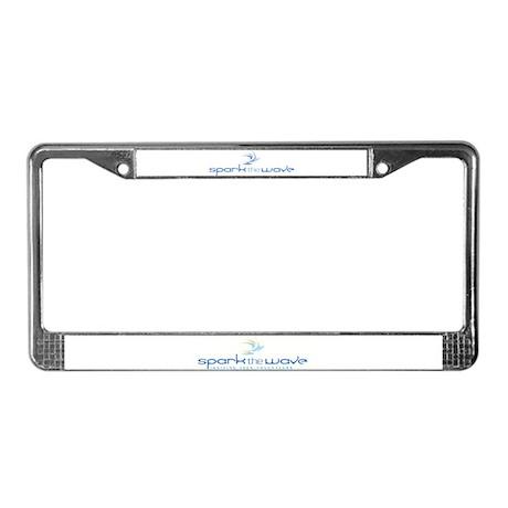 Spark the Wave License Plate Frame