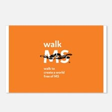 Orange- Walk MS Postcards (Package of 8)