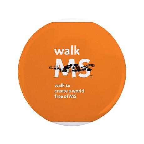 """Orange- Walk MS 3.5"""" Button"""