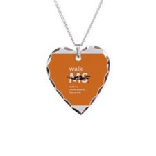 Orange- Walk MS Necklace