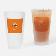 Orange- Walk MS Drinking Glass