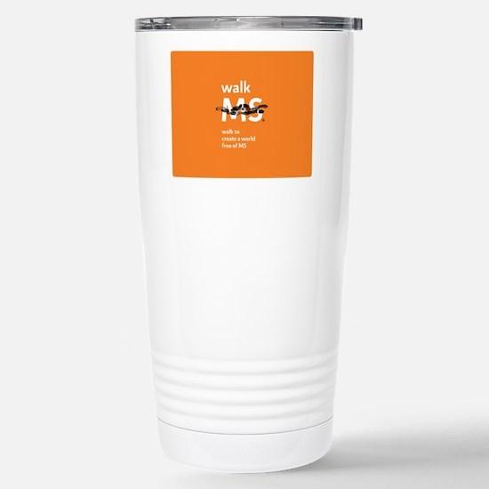 Orange- Walk MS Travel Mug