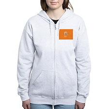 Orange- Walk MS Zip Hoodie